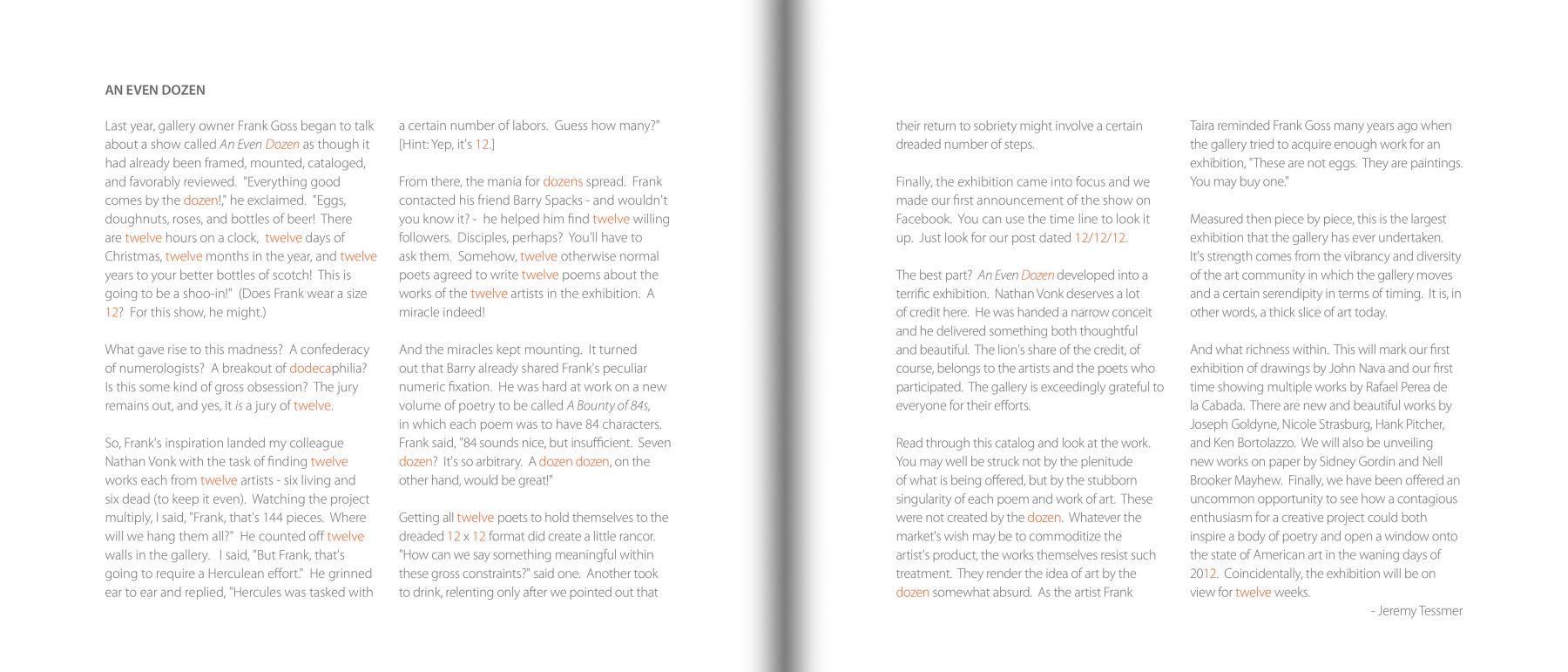An Even Dozen detail pages