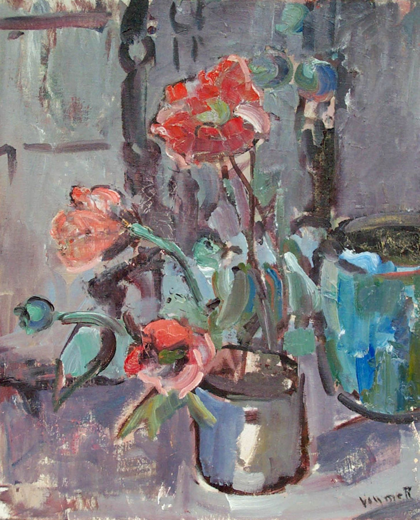 Grace Libby Vollmer, Tulips and Watercan