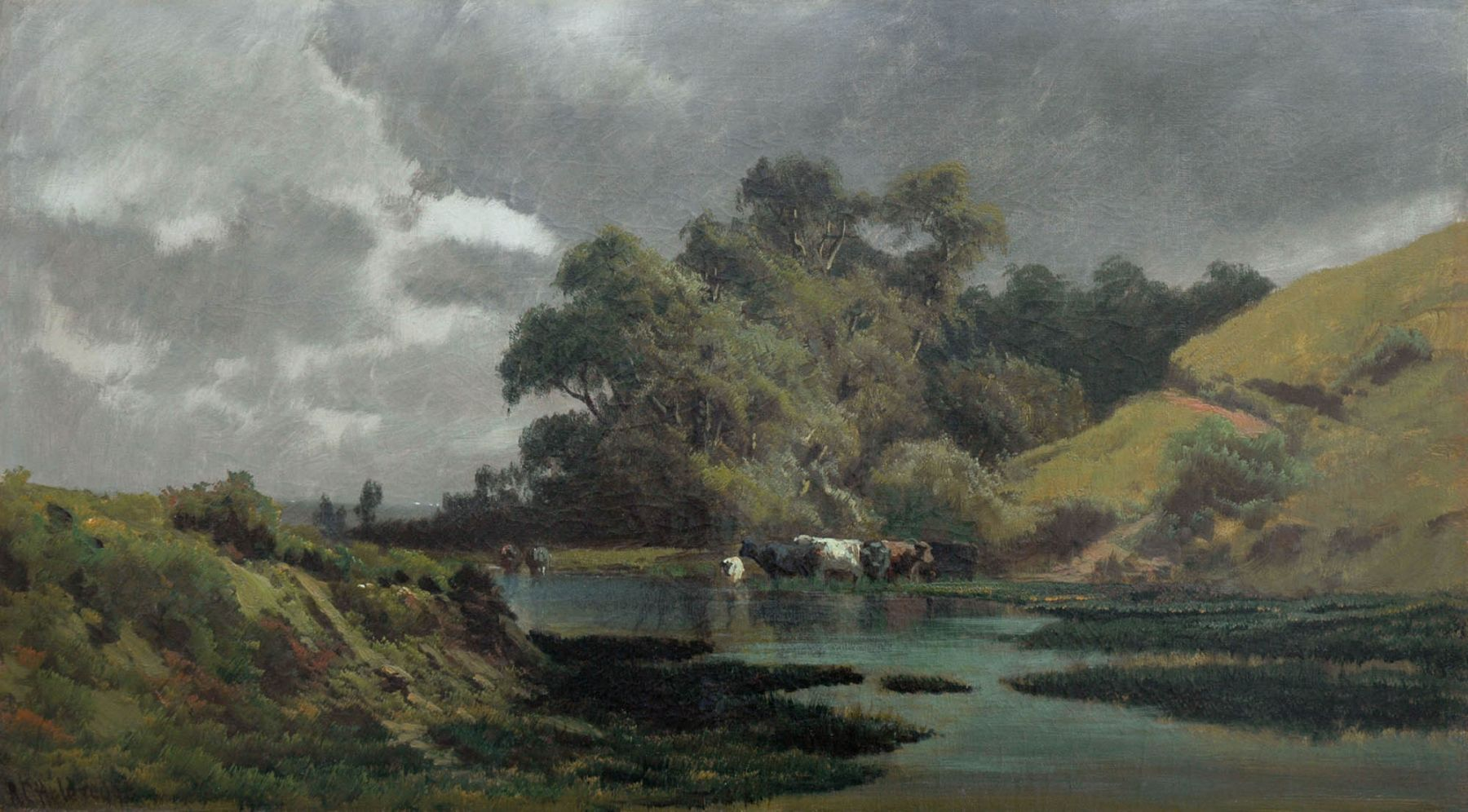 Ransome Holdredge, Landscape with Cows, 1885