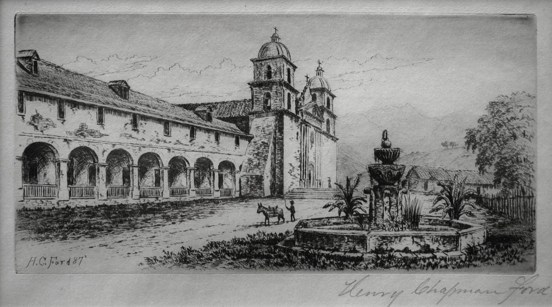Henry Chapman Ford, Santa Barbara Mission