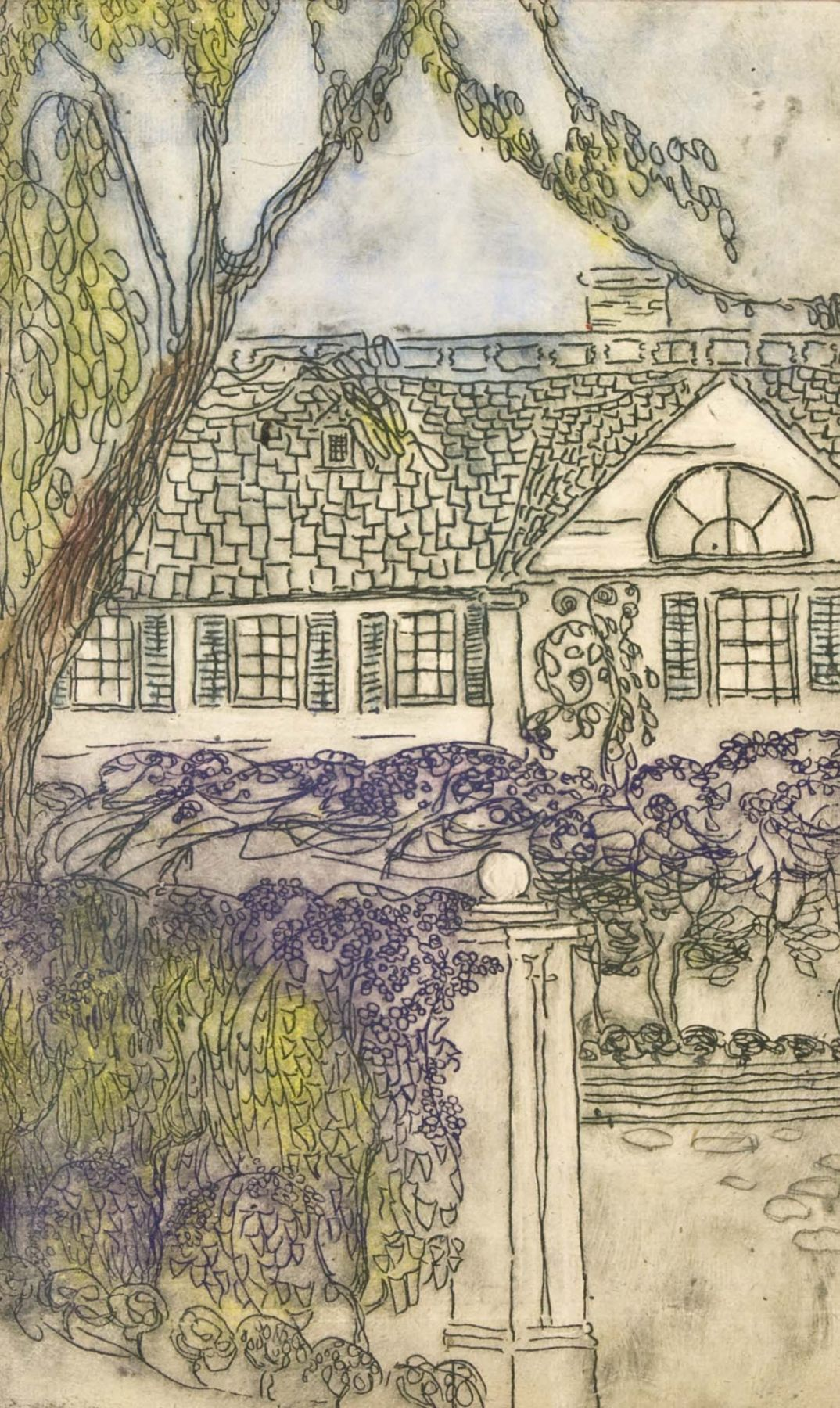 Longfellow's Home in Lilac Time, Nell Brooker Mayhew