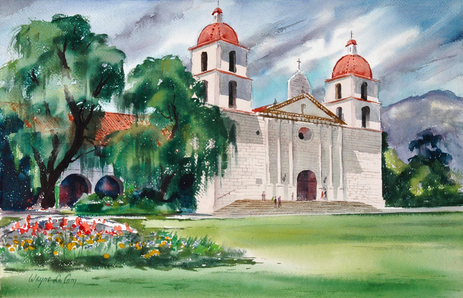 WAYNE LACOM, Santa Barbara Mission, 1959