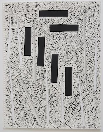 "Miguel Angel Ríos, Drawing from the series ""Endless"" Nº 42, 2015. Ink and pencil on paper and cut out, 14 1/8 x 11 in.  / 35.8 x 28 cm"
