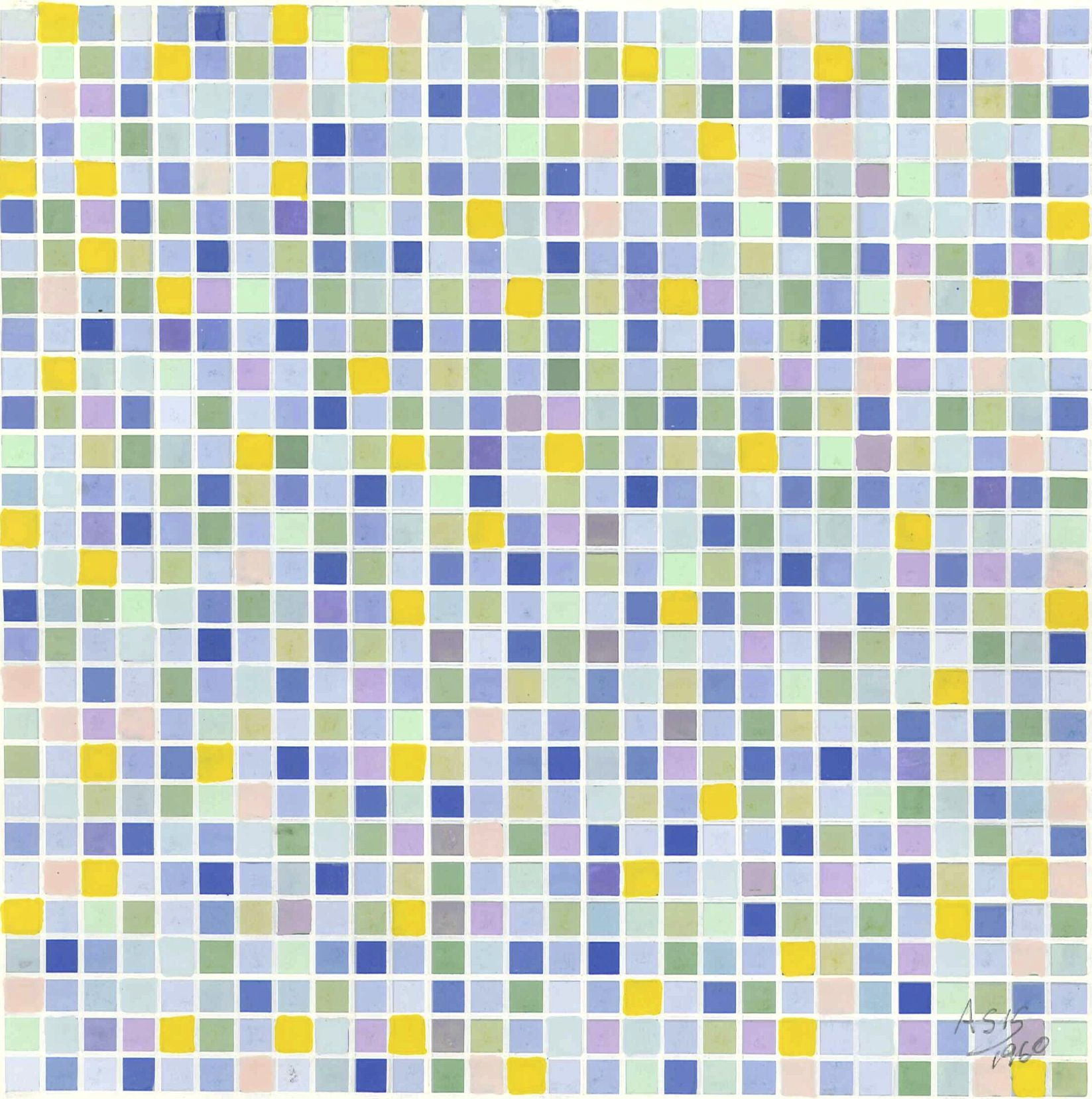 Antonio Asis,Untitled, 1960, Gouache on paper,8 7/8 x 6 7/8 in. (22.5 x 17.5 cm.)