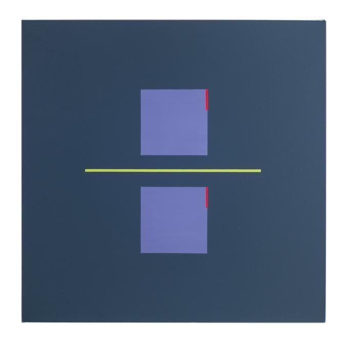 Antonio Lizárraga, Doze lados cinzas, 1996. German pigments on canvas, 15 3/4 x 15 3/4 in.
