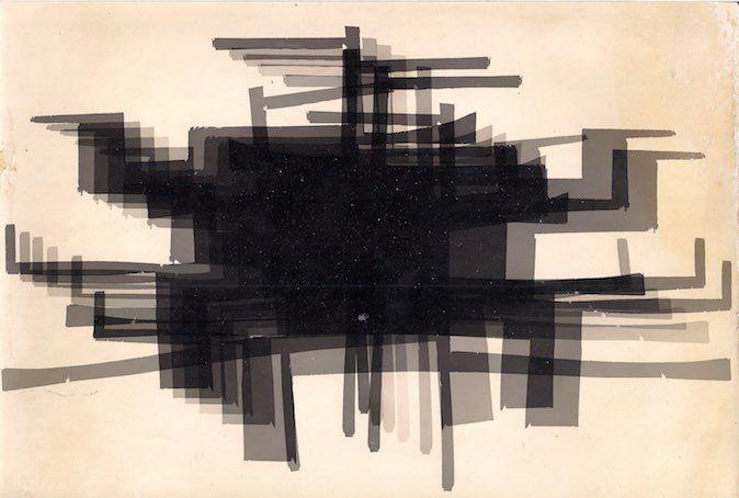 Fotograma, c. 1964-1965. Photogram. 6 3/8 x 9 7/8 in. (16.2 x 25.1 cm)