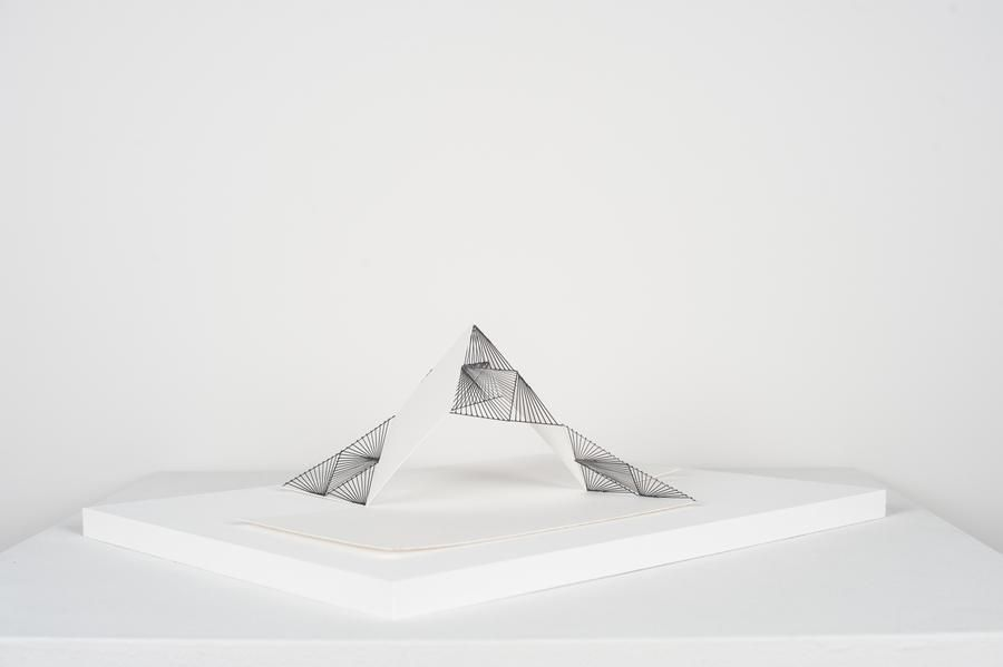 Mariano Dal Verme, Untitled, 2013. Graphite, paper, 4 1/4 in. x 9 3/4 in. x 13 3/4 in.