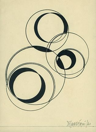 Hugo De Marziani, Untitled, 1960. Ink on paper, 21 1/2 x 16 cm.