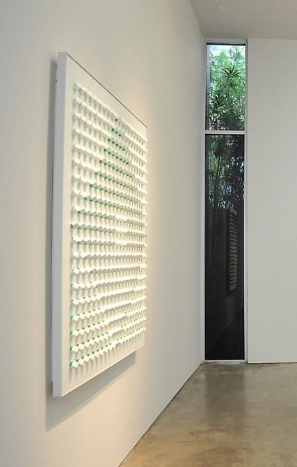 Luis Tomasello, Atmosphère Chromoplastique No. 950, 2010. Acrylic on wood, 62.9 in. x 62.9 in. x 3.9 in.