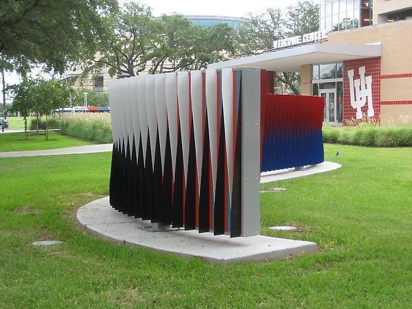 Carlos Cruz-Diez, Double Physichromie: University of Houston, 2008.59 1/16 x 601 9/16 in. (150 x 1528 cm.)
