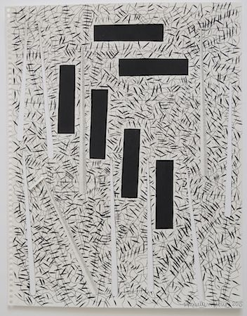 """Miguel Angel Rios(b. 1943, Argentina: lives and works in New York/Mexico City). Drawing from the series, """"Endless"""" Number 42. 2015. Ink and pencil on paper and cut out. 14 1/8 x 11 in. / 35.8 x 28 cm."""