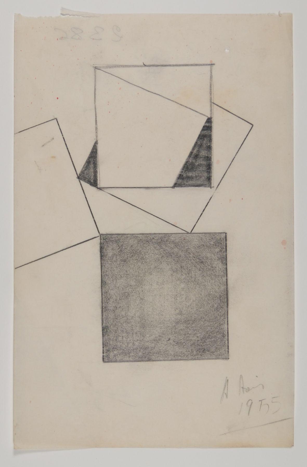 Antonio Asis,Esquisse, 1955,Graphite on paper,5 3/8 x 8 1/4 in. (13.7 x 20.9 cm.)