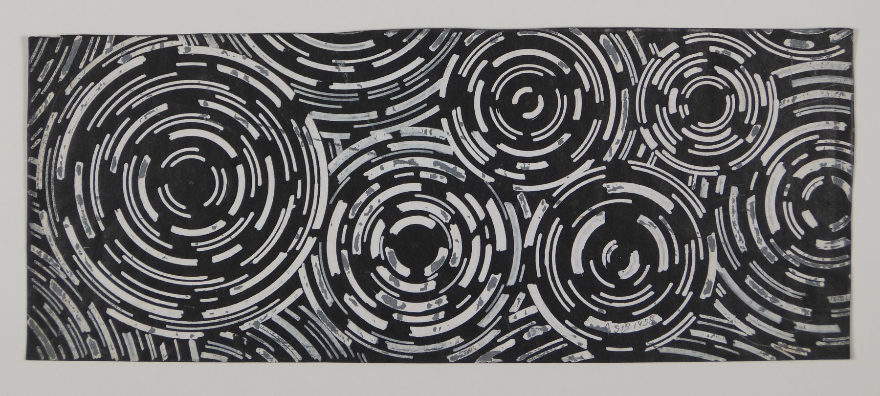 Antonio Asis,Esquisse noire, 1958,Gouache and ink on paper,3 9/16 x 8 7/8 in. (9.2 x 22.6 cm.)