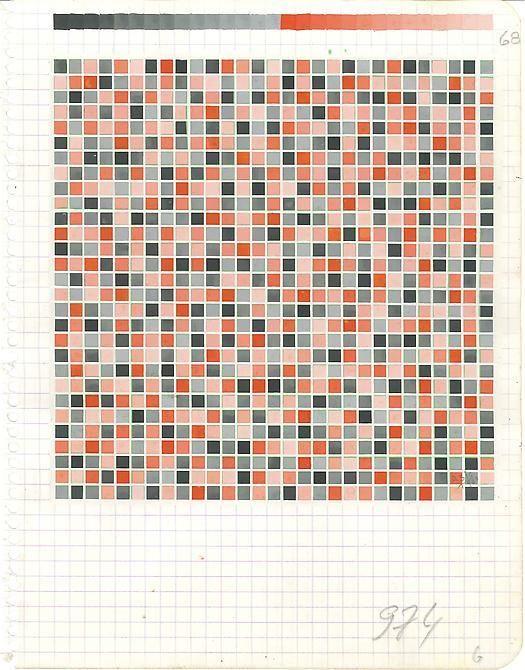 "Antonio Asis, Untitled, 1960, Acrylic on paper, 8 5/8"" x 6 5/8"" / 21.9 x 16.8 cm"