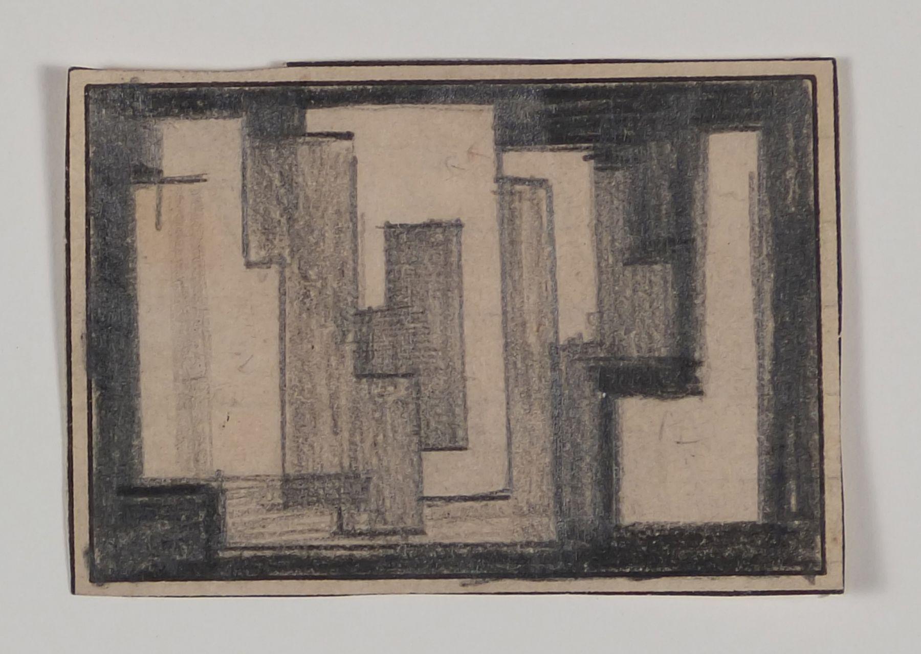 Antonio Asis,Untitled, 1955,Graphite on paper,1 5/8 x 2 1/4 in. (4.1 x 5.8 cm.)