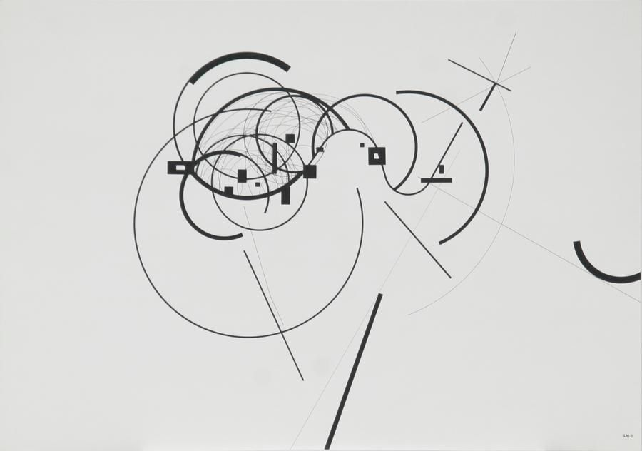 Antonio Lizárraga, Montag, 1989. India Ink and pigments on Schoellershammer paper, 20 1/16 x 28 3/4 in.