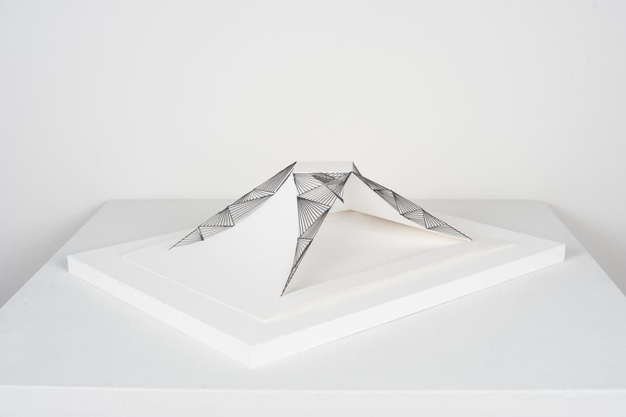 Mariano Dal Verme, Untitled, 2013. Graphite, paper, 3 3/4 in. x 9 3/4 in. x 13 3/4 in.