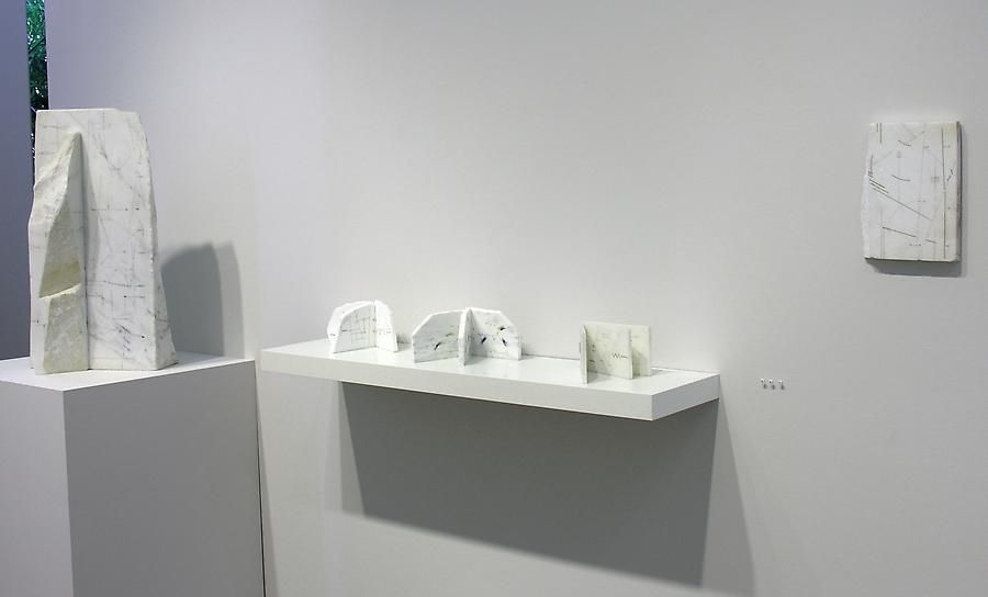 Marie Orensanz, Marked Pages, Sicardi Gallery installation view, 2006