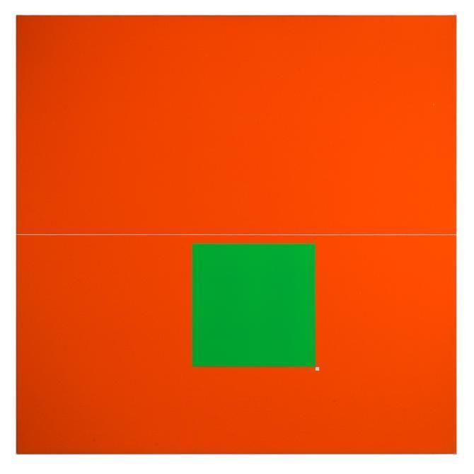 Antonio Lizárraga, Aquário, 2008. German pigments on canvas, 19 11/16 x 19 11/16 in.