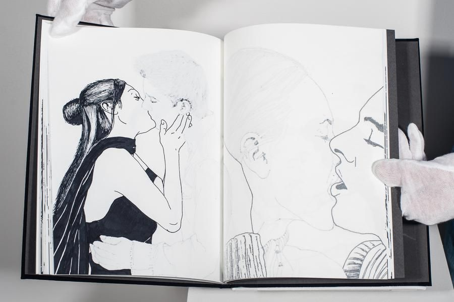 Mariano Dal Verme, The book of love, 2013. Ink, paper, 11 in. x 8 1/2 in.