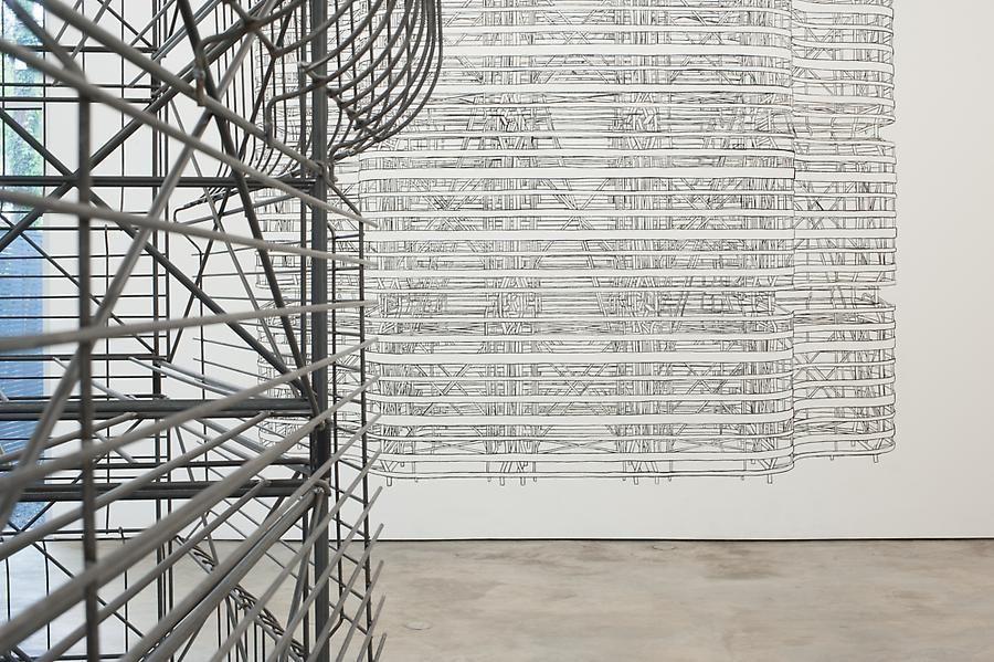 Pablo Siquier, Structure, Installation view, 2013.
