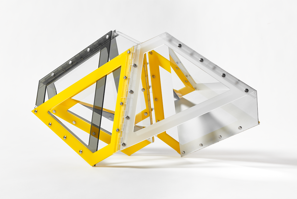 Marta Chilindrón, Hollow Mobius, 2016.Acrylic and hinges.15¾ x 26 in.(variable dimensions)