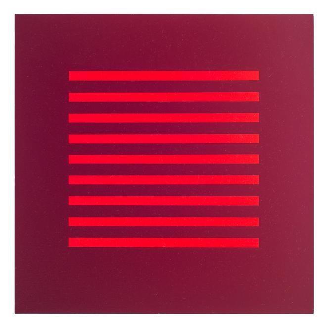 Antonio Lizárraga, Cartaz, 2004. German pigments on canvas, 19 11/16 x 19 11/16 in.