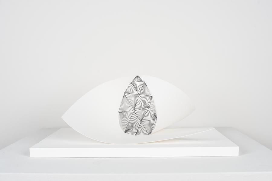 Mariano Dal Verme, Untitled, 2013. Graphite, paper, 9 1/2 in. x 8 in. x 13 3/4 in.