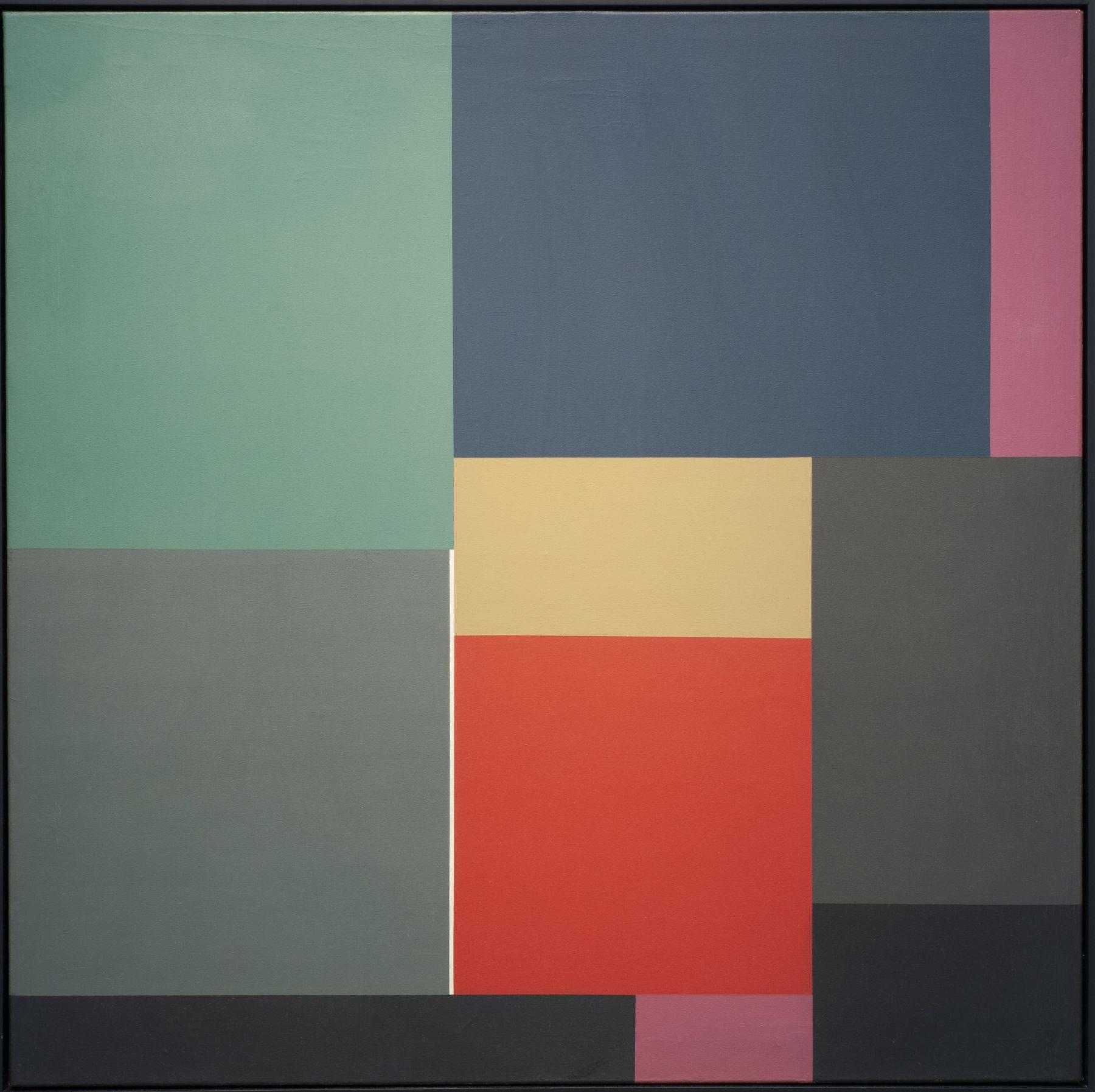 Mercedes Pardo, Untitled, 1976,Acrylic on canvas,47 3/16 x 47 3/16 in. (120 x 120 cm.)