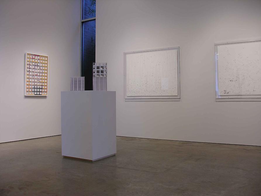 Marco Maggi, Luis Roldan, Sicardi Gallery installation view, 2008