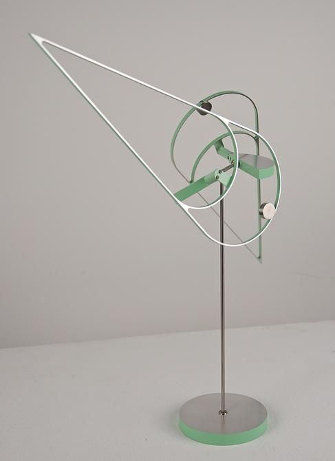 Pedro S. de Movellán, Dihedral (Green) 2/3, 2015, Powder coated and brushed aluminum, stainless steel