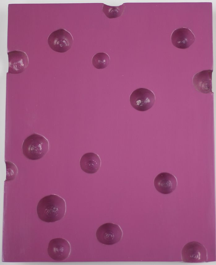 Pink Open Cluster, 2018. Lacquer, acorns, 7 21/32 x 9 27/32 in. (19.5 x 25 cm.)