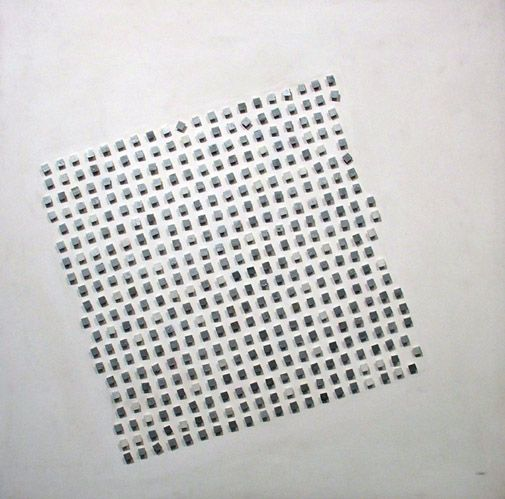 """Luis Tomasello,""""Relief Cinetique,"""" 1958,Acrylic on wood,39 3/8 x 39 5/16 x 1 1/2 in. (100 x 100 x 3.8 cm.)"""
