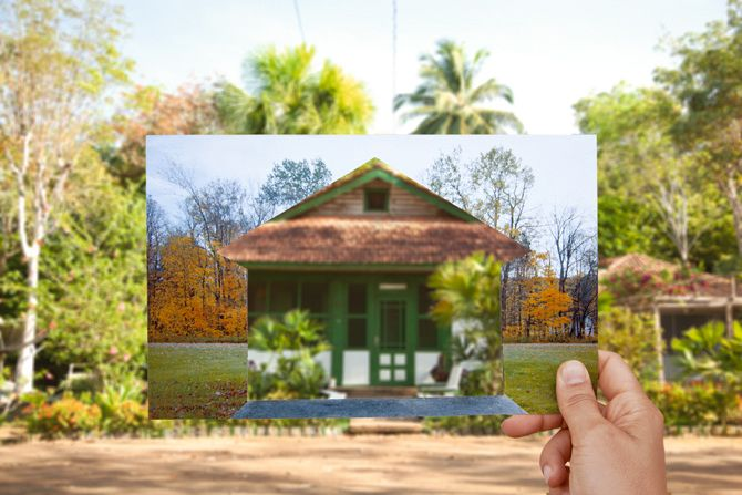 Clarissa Tossin(b. 1973, Brazil). Belterra House 3 from the series, When Two Places Look Alike Ed. 2/3. 2013. Digital Chromogenic Print. 27 1/4 x 41 1/4 in. / 69.3 x 104.8 cm.