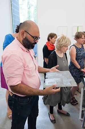 Printmaking Workshop with Marie Leterme. Sicardi Gallery, August 24, 2013.
