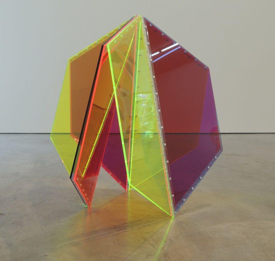 Marta Chilindrón, 9 Trapezoids, 2014. Acrylic.