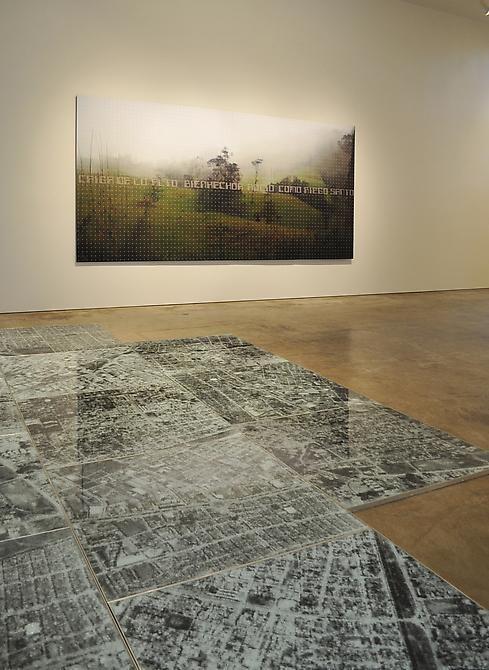 Oscar Muñoz, Miguel Angel Rojas, Sicardi Gallery installation view, 2010
