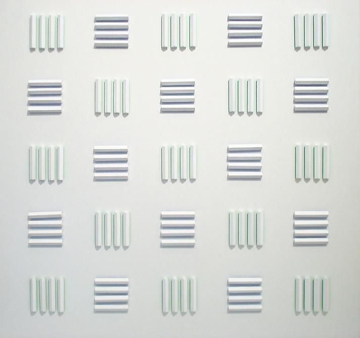 Luis Tomasello, Atmosphére Chromoplastique No. 914, 2009. Acrylic on wood, 39 in. x 39 in. x 2 1/2 in.