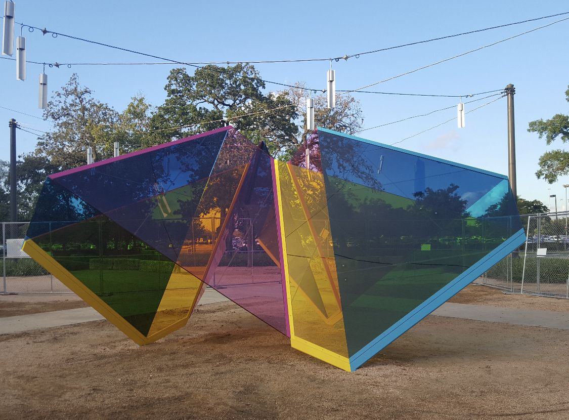 Marta Chilindrón, Mobius Houston,2019. Installation project commissioned by the University of Houston Public Art System.