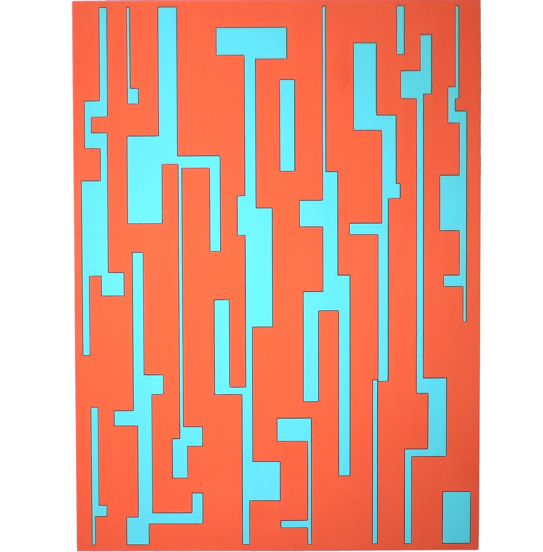 Yisus, 2018. Lacquer on MDF, 47 7/32 x 35 13/32 in. (120 x 90 cm.)