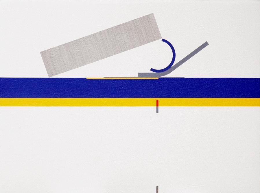 Antonio Lizárraga, Número trinta e cinco, 2005. India Ink and pigments on Arches paper, 22 13/16 x 30 5/16 in.