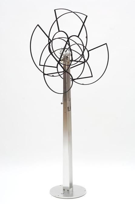 Pedro S. de Movellán, Entropy, 2006, Brushed aluminum, powder coated aluminum, stainless steel, brass