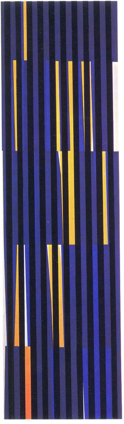 Alejandro Otero, Coloritmo 47 [Colorhythm 47], 1971. Industrial enamel on wood, 78 11/16 x 22 in. (200 x 56 cm.)