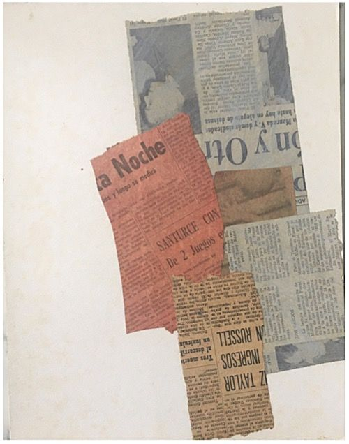 Alejandro Otero, L'Usure, Le Temps, Les Elements [Wear, Time, Elements], 1964. Collage on cardboard, 12 15/16 x 10 in. (33 x 25.5 cm.)