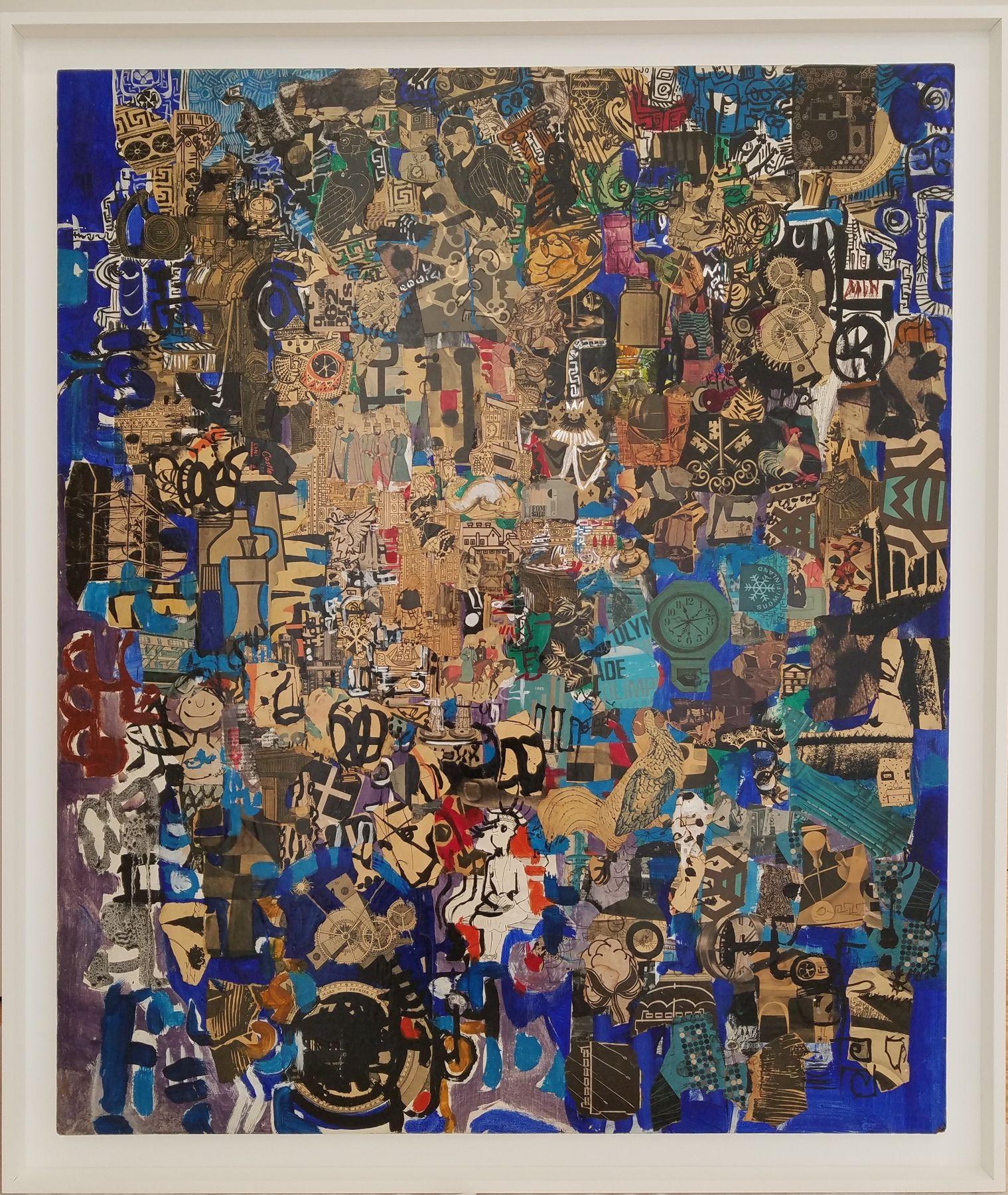 Mercedes Pardo,El Jardín de las Delicias, 1965,Collage and paint on wood,43 1/4 x 37 3/8 in. (110 x 95 cm.)