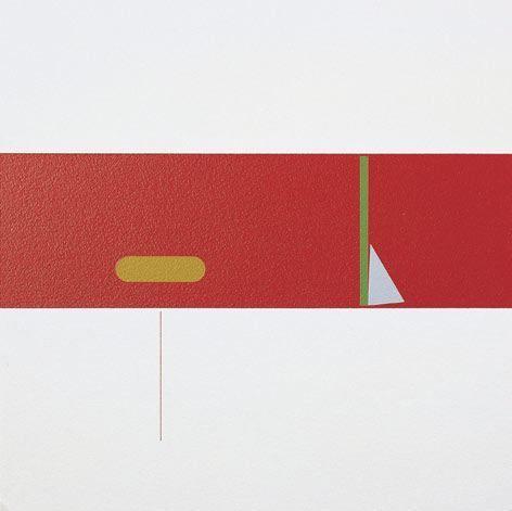 Antonio Lizárraga, Desenho nº 495 - Estaca dimensão triangular, 1998. German pigments on Arches paper, 15 3/4 x 15 3/4 in.