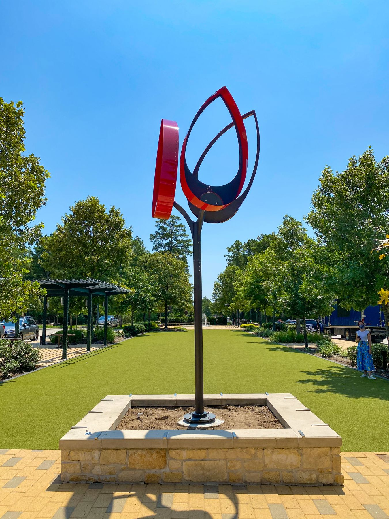 Pedro S. de Movellán, Ibis, 2020. Creekside Park Village Green, The Woodlands, Texas.