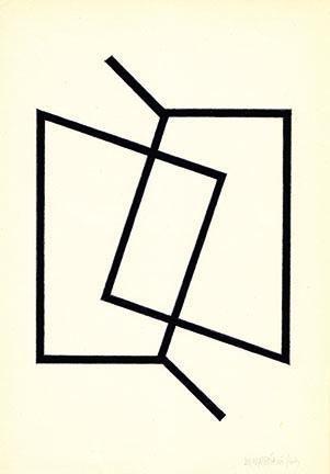 Hugo De Marziani, Untitled, 1963. Tempera on paper, 23 x 16 cm.