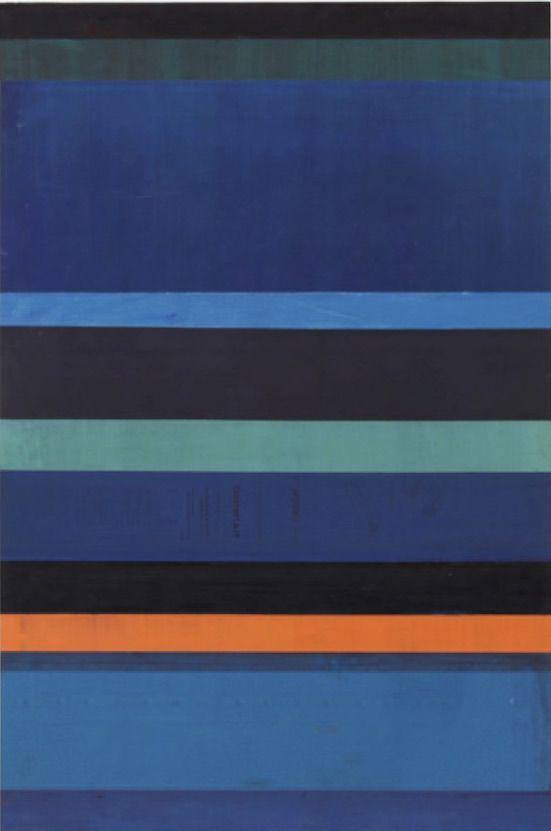 Gabriel de la Mora(b. 1968, Mexico). MCI / 12 I f. 2015. Discarded offset printing rubber blankets, wood mounting. 35 7/16 x 23 5/8 x 1 9/16 in. / 90 x 60 x 4 cm.