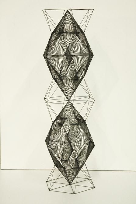 Mariano Dal Verme, Tower, 2014. Graphite, 15.7 in. x 4.7 in. x 4.7 in.